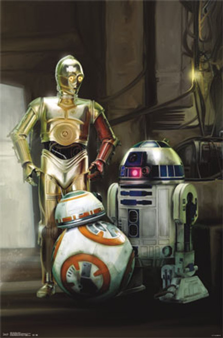 Image for Star Wars: The Force Awakens Poster - Droids