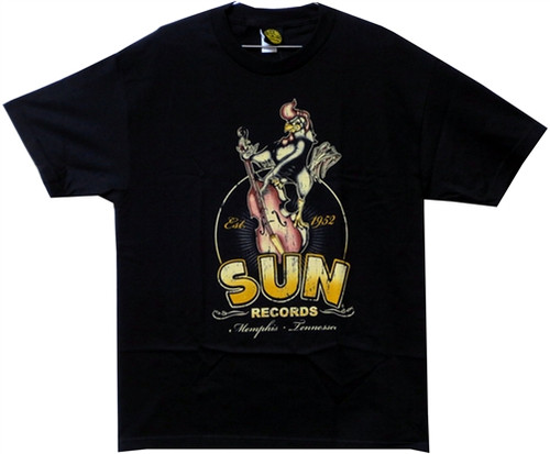 Image Closeup for Sun Records Roosterbilly T-Shirt