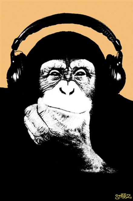Image for Steez Poster - Headphone Monkey