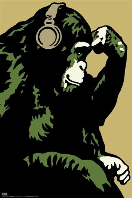 Image for Steez Poster - Monkey Thinker