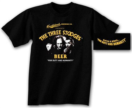 Image for The Three Stooges Beer T-Shirt