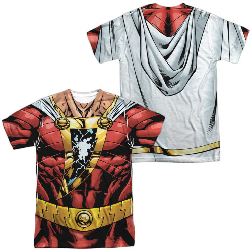 Image for Shazam Sublimated T-Shirt - JLA Shazam Uniform 100% Polyester