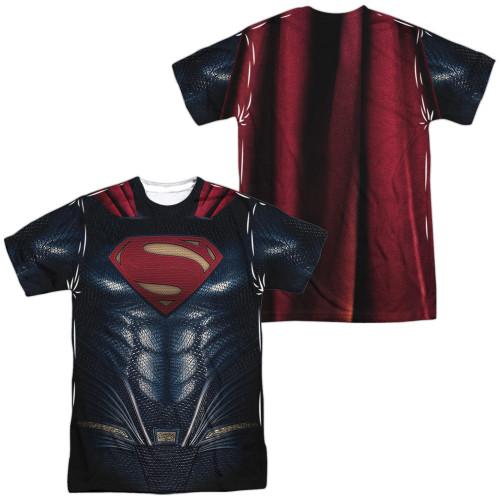Image for Superman Sublimated T-Shirt - JLA Movie Uniform 100% Polyester