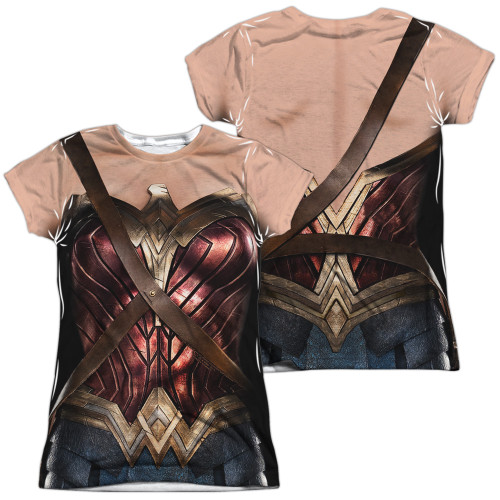 Image for Wonder Woman Girls T-Shirt - Sublimated JLA Movie Uniform