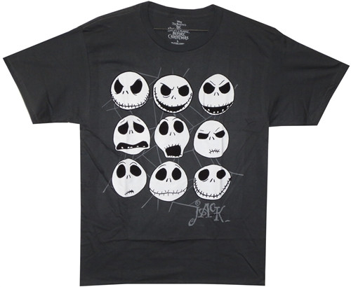 Image Closeup for The Nightmare Before Christmas Jacked Face T-Shirt