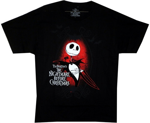 Image Closeup for The Nightmare Before Christmas Dark Love T-Shirt