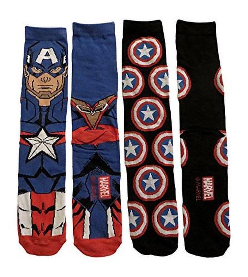 Image for Captain America Blue Cap 2 Pack Socks