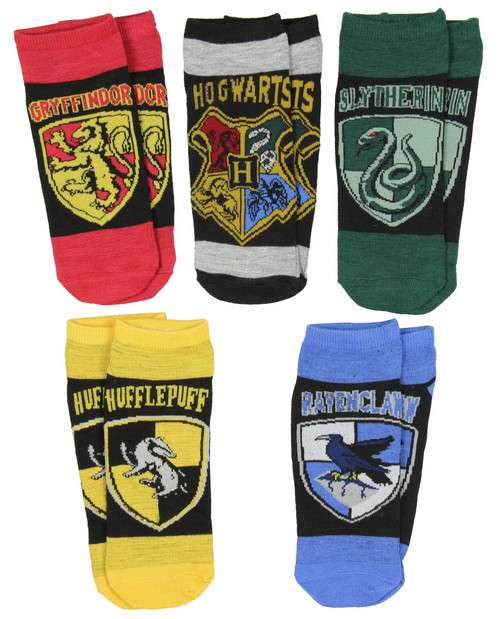 Image for Harry Potter House Crests 5 Pack Low Cut Socks
