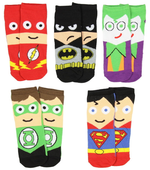 Image for DC Comics Cute Heros 5 Pack Low Cut Socks