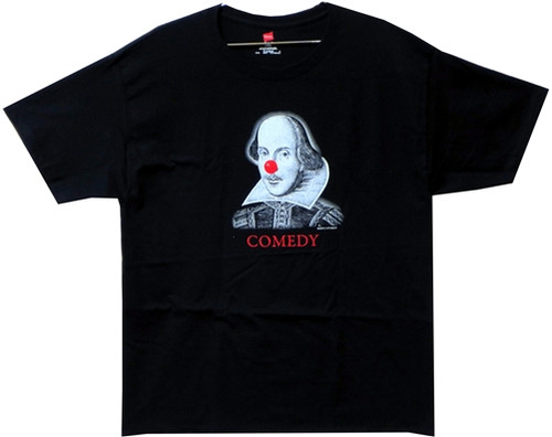 Image Closeup for William Shakespeare Comedy and Tragedy T-Shirt