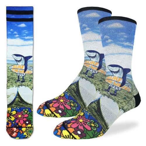 Image for Surfing Shark Socks