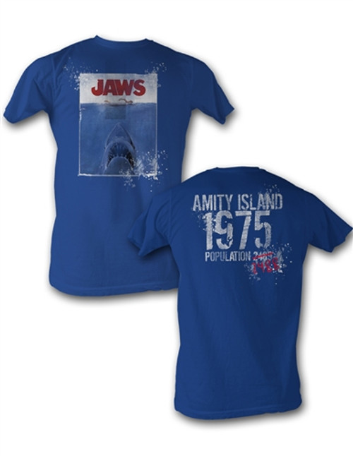 Image for Jaws Amity Island Population T-Shirt