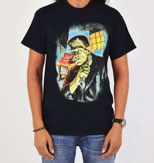 Image for Frankenstein Getting Ready T-Shirt