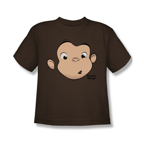 Image for Curious George Face Youth T-Shirt
