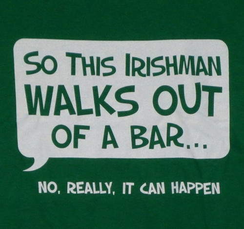Image for So an Irishman Walks Out of a Bar... T-Shirt