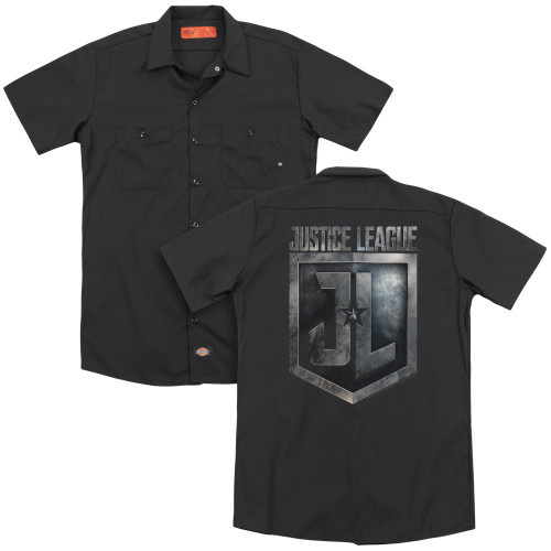Image for Justice League Movie Dickies Work Shirt - Shield Logo