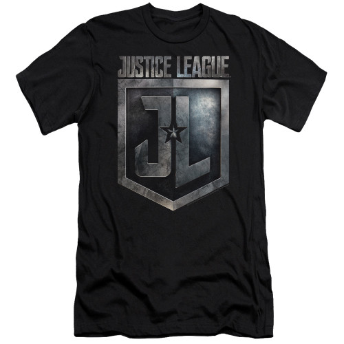 Image for Justice League Movie Premium Canvas Premium Shirt - Shield Logo