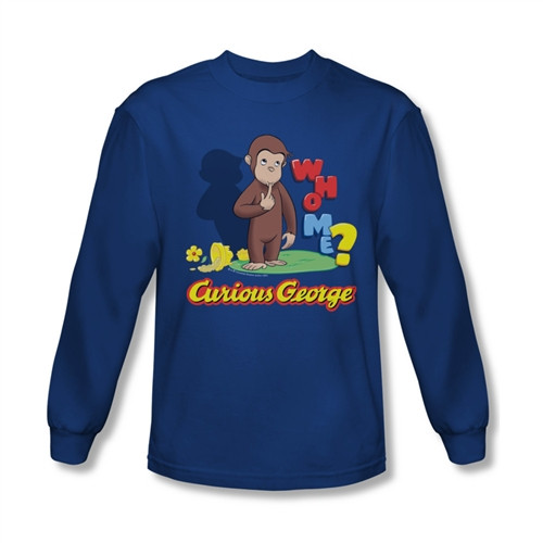Image for Curious George Who Me? Long Sleeve T-Shirt