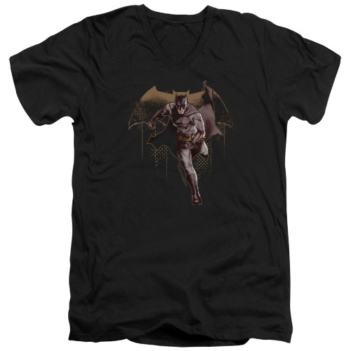 Image for Justice League Movie V Neck T-Shirt - Caped Crusader