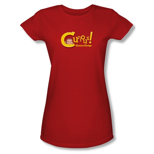 Image for Curious George Curious! Girls Shirt