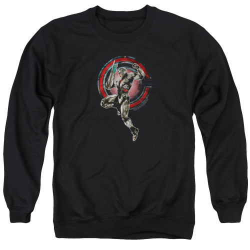 Image for Justice League Movie Crewneck - Cyborg
