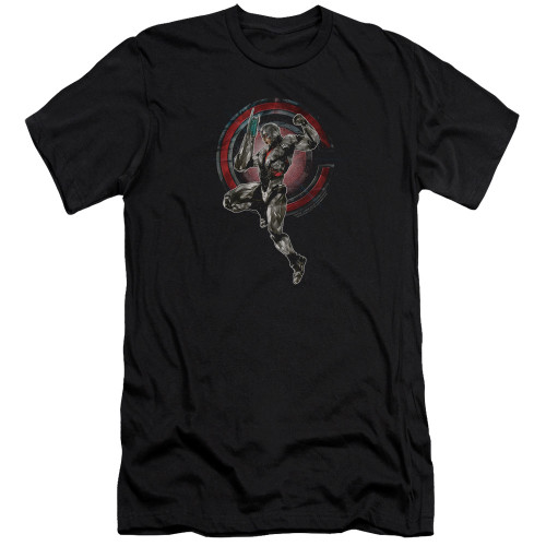 Image for Justice League Movie Premium Canvas Premium Shirt - Cyborg