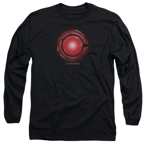 Image for Justice League Movie Long Sleeve Shirt - Cyborg Logo