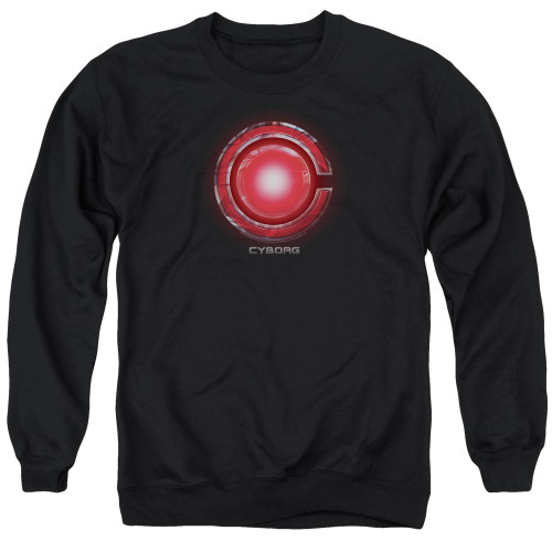 Image for Justice League Movie Crewneck - Cyborg Logo