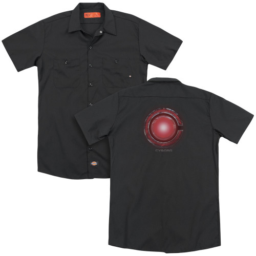 Image for Justice League Movie Dickies Work Shirt - Cyborg Logo