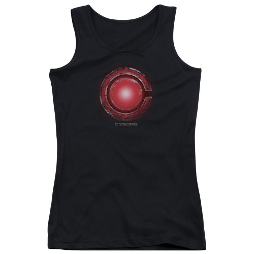 Image for Justice League Movie Girls Tank Top - Cyborg Logo