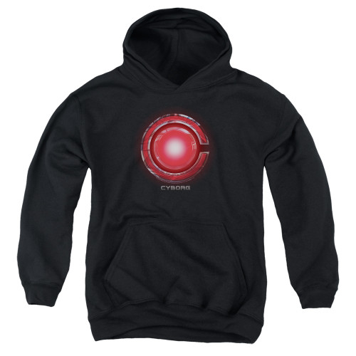 Image for Justice League Movie Youth Hoodie - Cyborg Logo