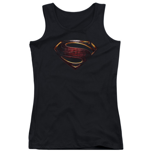 Image for Justice League Movie Girls Tank Top - Superman Logo