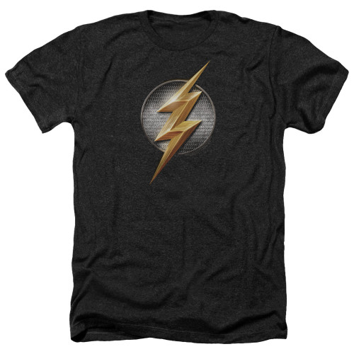 Image for Justice League Movie Heather T-Shirt - Flash Logo