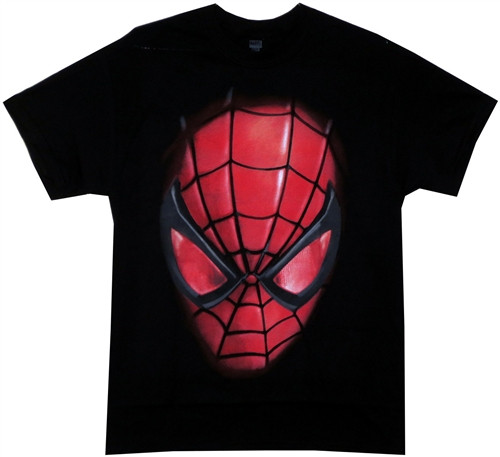 Image Closeup for Spider-Man T-Shirt - Face