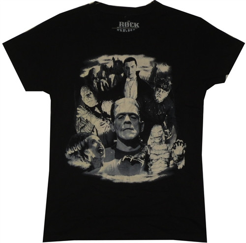 Image for Monster Collage Girls T-Shirt