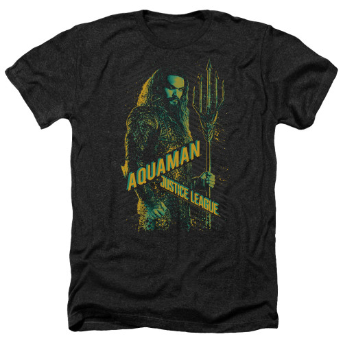 Image for Justice League Movie Heather T-Shirt - Aquaman
