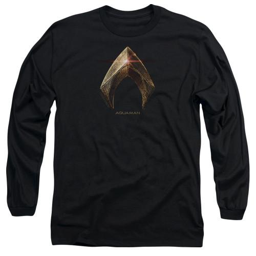 Image for Justice League Movie Long Sleeve Shirt - Aquaman Logo