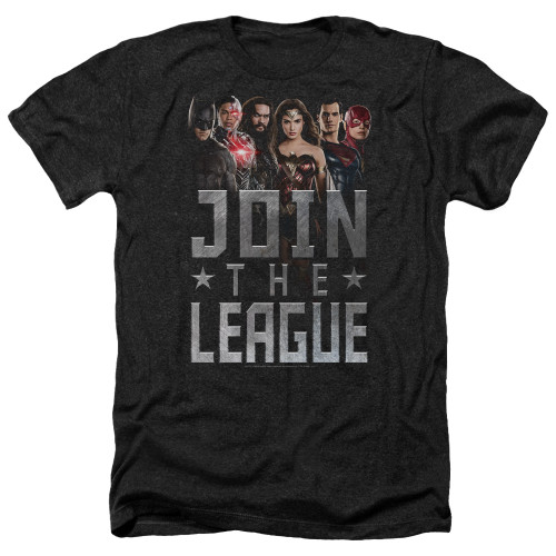 Image for Justice League Movie Heather T-Shirt - Join the League