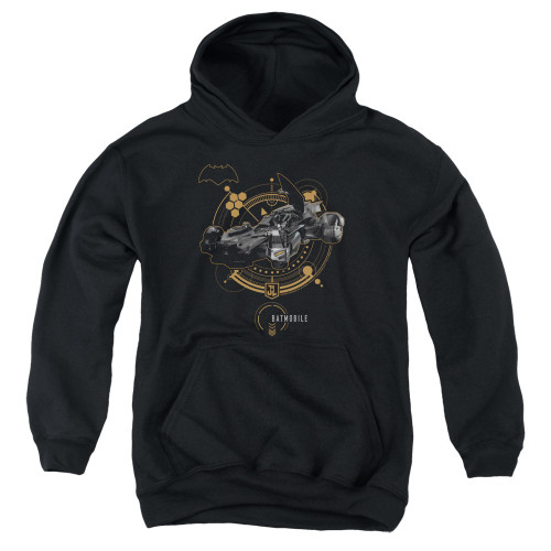 Image for Justice League Movie Youth Hoodie - Batmobile