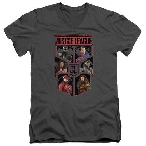 Image for Justice League Movie V Neck T-Shirt - League of Six