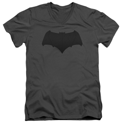 Image for Justice League Movie V Neck T-Shirt - Batman Tone Logo