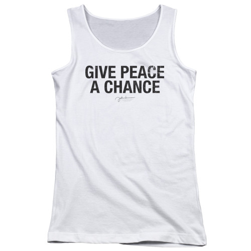 Image for John Lennon Girls Tank Top - Give Peace a Chance