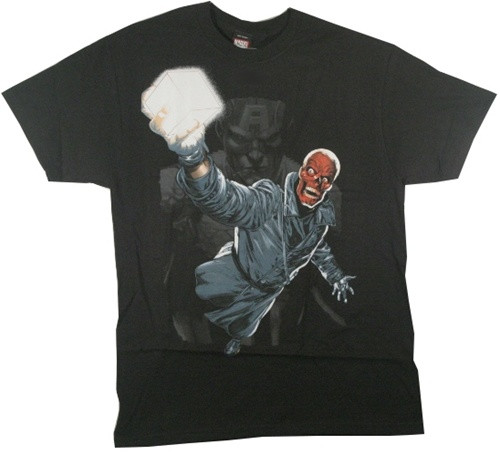 Image Closeup for Red Skull T-Shirt