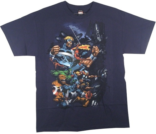 Image Closeup for Marvel T-Shirt - Attack Attack
