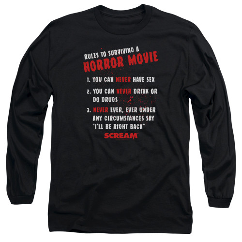 Image for Scream Long Sleeve Shirt - Rules
