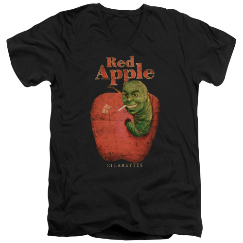 Image for Pulp Fiction V Neck T-Shirt - Red Apple