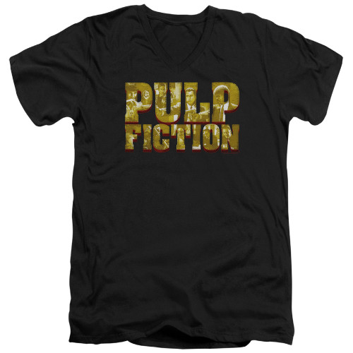 Image for Pulp Fiction V Neck T-Shirt - Pulp Logo