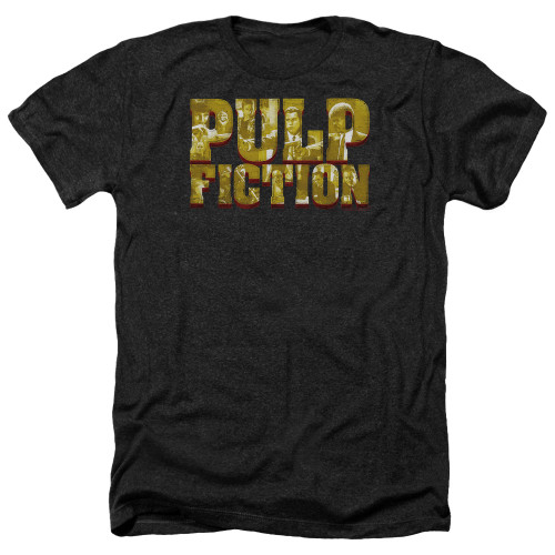 Image for Pulp Fiction Heather T-Shirt - Pulp Logo