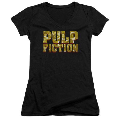 Image for Pulp Fiction Girls V Neck - Pulp Logo