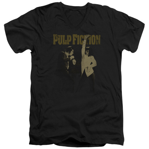 Image for Pulp Fiction V Neck T-Shirt - I Wanna Dance